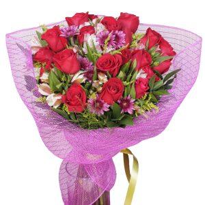 rosas rojas enviar ramo